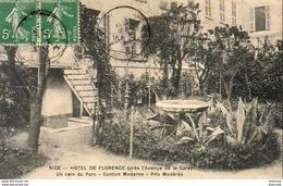 D06 NICE  Hôtel De Florence  Un Coin Du Parc - Pubs, Hotels And Restaurants