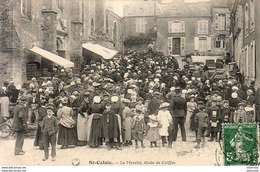 D72  ST CALAIS  Le Marché - Étude De Coiffes  ....... Carte Peu Courante - Saint Calais