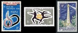 NOUV.-CALEDONIE 1965 - Yv. 327 328 Et 329 *   Cote= 7,20 EUR - Phare, Jeux Sportifs, UNESCO (3 Val)  ..Réf.NCE25058 - Nouvelle-Calédonie