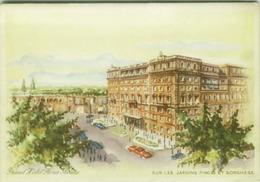 ROMA - GRAND HOTEL FLORA - SUR LES JARDINS PINCIO ET BORGHESE - EDIZ. T. GRISPIGNI  (3951) - Bares, Hoteles Y Restaurantes