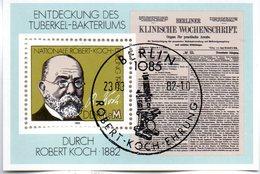 """(DDR-Bl) DDR Mi. Block 67 """"100. Jahrestag Der Entdeckung Des Tuberkulose-Erregers""""  ESSt  23.3.1982 BERLIN - [6] Democratic Republic"""