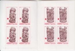 Carnet Croix Rouge 1980 (Stalles En Bois Sculpté De La Cathédrale D'Amiens N° 2116a, 2117a), Neuf Sans Traces - Rode Kruis