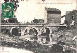 Carte POSTALE  Ancienne De SERVIAN - Pont De La LENE Après Inondation (Sept.1907) - France