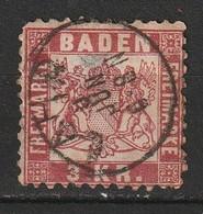 Bade N° 24, 3 Kreuzer, Oblitération Lahr - Baden