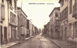 Carte POSTALE  Ancienne De  GRENADE Sur L'ADOUR - Grande Rue - Francia