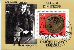 "(DDR-Bl) DDR Mi. Block 88 ""100. Geburtstag Von Georgi M. Dimitrow ""  ESSt. 8.6.1982 BERLIN - [6] Democratic Republic"