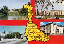 54 - Laneuveville Devant Nancy : Multivues Avec Carte Géographique Du 54 - CPM écrite - Other Municipalities