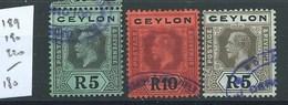 CHRYPRE - N°189-190-220. Cote  180€. - Cyprus (Republic)