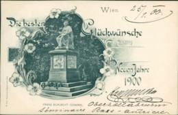 AK Wien Franz Schubert-Denkmal, Jugendstil, Neujahr 1900 (32245) - Vienna