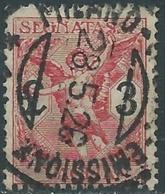 1924 REGNO SEGNATASSE PER VAGLIA USATO 3 LIRE - RB38-3 - 1900-44 Vittorio Emanuele III