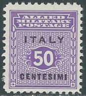 1943 OCCUPAZIONE ANGLO AMERICANA SICILIA 50 CENT MNH ** - RB30-9 - Anglo-Amerik. Bez.: Sicilë