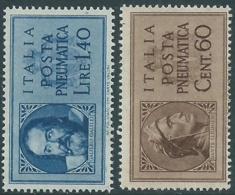 1945 LUOGOTENENZA POSTA PNEUMATICA 2 VALORI MH * - RB33-4 - 5. 1944-46 Lieutenance & Umberto II