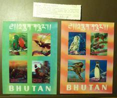 Bhutan Stamp Birds 3D Block Set Imperforated 1969 Mi 29-30  ** MNH   #L547 - Bhutan