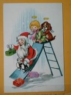 KOV 8-168 - NEW YEAR, Bonne Annee, SANTA CLAUS, PERE NOEL, ANGELS, ANGE - Nouvel An