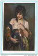DEUTSCHLAND AK Postcard Postkarte ** - Traumverloren - L. Schmutzler  (2 Scan)(6159AK) - Paintings