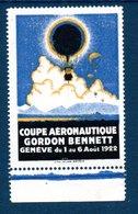 Timbre-vignette: Coupe Aéronautique Gordon Bennett, Genève 1922, Neuve - Adesivi