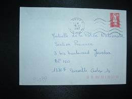 LETTRE PORT PAYE TP M. DE BRIAT TVP ROUGE OBL.MEC.13-6 1997 PP 13 AIX EN PCE JAS DE BOUFFAN - Marcophilie (Lettres)