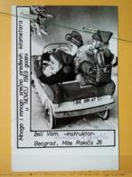 KOV 8-170 - NEW YEAR, Bonne Annee, SANTA CLAUS, PERE NOEL, AUTO BEOGRAD, BELGRADE - Nouvel An