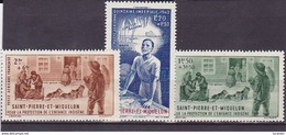SPM  PA Poste Aérienne N° 1-2 & 3neufs * - Voir Descriptif & Verso - - St.Pierre Et Miquelon