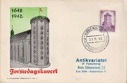 Denmark Stamps On FDC - Astronomy