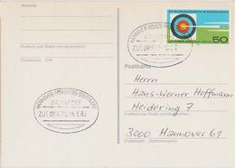 "7 173 Postkarten 2 Verschiedene, Bahnpost ""HANNOVER-STUTTGART"" 1980 - BRD"