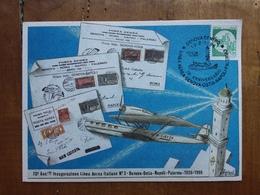 REPUBBLICA - Marcofilia - 70° Anniversario Linea Aerea Genova-Ostia-Napoli-Palermo + Spese Postali - FDC