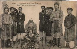 ANNAM  HUÉ  Le Jeune Roi Duy-Tham Et Son Entourage - Viêt-Nam