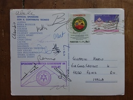 PAKISTAN - Spedizione Italiana Gasherbrum '94 - Con Firme Partecipanti + Spese Postali - Pakistán