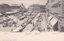 CPA Croatie - Zagreb - Agram - Jellachich-Platz (marché) - Kroatië