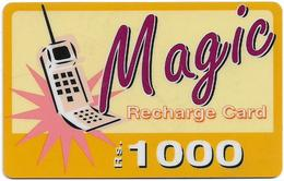 India - Airtel - Magic Recharge Card, Mobile, GSM Refill 1.000₹, Used - India