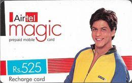 India - Airtel - Magic, Man On Yellow Blue Shirt, GSM Refill 525₹, Used - India