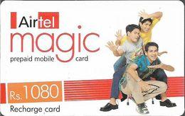 India - Airtel - Magic, Three Men, GSM Refill 1.080₹, Used - India