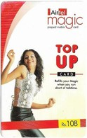 India - Airtel - Magic, Woman Dancing, GSM Refill 108₹, Used - India