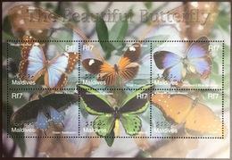Maldives 2002 Butterflies Sheetlet MNH - Farfalle