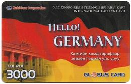 Mongolia - MobiCom - Hello! Germany, Remote Mem. 3.000₮, Exp. 12.2003, Used - Mongolei