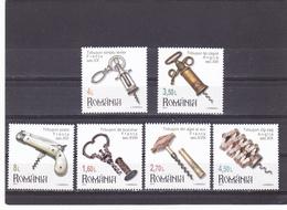 CORKSCREWS,FULL SET 2017,MNH,ROMANIA. - 1948-.... Repúblicas
