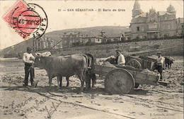 ESPAGNE  SAN SEBASTIAN ( Guipuzcoa )   El Bario De Gros    ........ CARTE PRÉCURSEUR DOS SIMPLE - Guipúzcoa (San Sebastián)