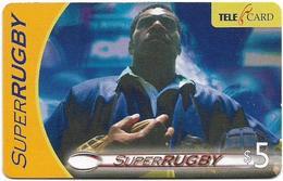 Fiji - Telecom Fiji - Super RUGBY, Player Standing, Cn.04052, Remote Mem. 5$, Used - Fiji