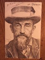 CPA, Illustrateur Orens, Général SUD AFRICAIN DEWET, écrite En 1902, Timbre - Orens