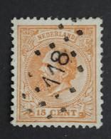 Nederland/Netherlands - Nr. 23H Met Puntstempel 118 - Gebruikt