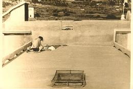 ARBE RAB SUNCANJE NA KROVU KUPALISNE ZGRADE KUPALISTE 1930. U Pozadini Pansion Ribaric Croatia Carnaro Quarnero - Photography