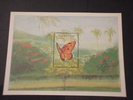 MALDIVES - BF 1987 FARFALLA - NUOVO++) - Maldive (1965-...)