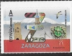 SPAIN, 2019, MNH, 12 MONTHS 12 STAMPS,  ZARAGOZA, MOUNTAINS, BIRDS, CRESTS,    1v - Oiseaux