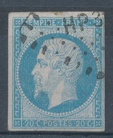 N°14 OBLITERATION LETTRE. - 1853-1860 Napoleone III
