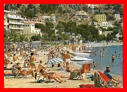 CPSM/gf  PUERTO DE SOLLER (Mallorca/ Espagne)  Vue Sur La Plage, Animé...K423 - Mallorca