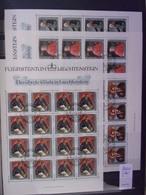 LIECHTENSTEIN 1984 MI-NR 839/42 FEUILLET OBL.  KLEINBOGEN GESTEMPELT - Blokken