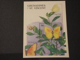 SAN VINCENT GRENADINES - BF 1989 FARFALLA - NUOVO(++) - St.Vincent E Grenadine