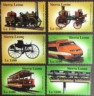 Sierra Leone 2000 Railways Trains MNH - Sierra Leone (1961-...)
