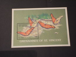 SAN VINCENT GRENADINES - BF 1989 FARFALLE - NUOVO(++) - St.Vincent E Grenadine