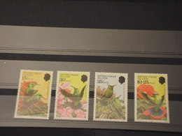 VIRGIN -  1982 UCCELLI/FIORI 4 VALORI - NUOVI(++) - British Virgin Islands